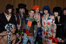 Backstage Moschino Uomo FW15/16 Fashion show