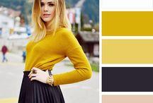 Горчичный цвет в одежды
