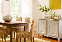 mixing wood with painted furniture