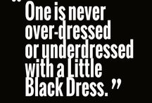 Research: Little Black Dress / The perfect dress in which to clothe my heroine!