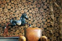 pared de troncos