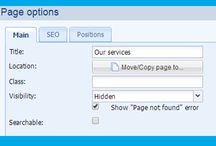 Hide page content / Do you work on content of new subpage and don't want your customers could see this page? Do you want create just redirection and don't want to this page be visible in menu of pages? Hide her. How to do it? http://www.bizwebs.com/a/653
