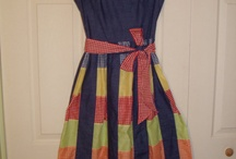 gingham patchwork dress