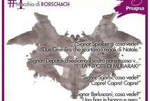129° anniversario della nascita di Hermann Rorschach / Oggi è il 129° anniversario della nascita di Hermann Rorschach, lo psichiatra che inventò il test delle macchie. Lo abbiamo sottoposto a un po' di persone...