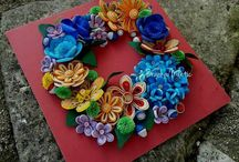 Quilling wreath flower / Quilling