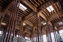 * bamboo constructions *