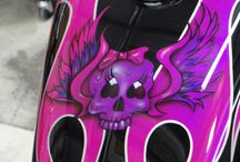 Skulls & Skeletons / Motorcycle paint jobs, tank designs (etc) with skull or skeleton design or motifs