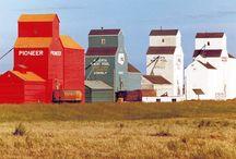 Grain elevators ...