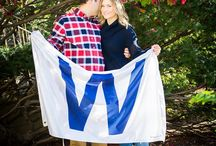 Chicago Cubs Engagement Session Photo