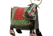 Elegant Decorative Cow (Multicoloured)
