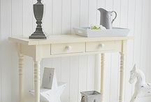 Cream Console Hall and Sofa Tables / The White Lighthouse offers a range of cream console hall and sofa tables