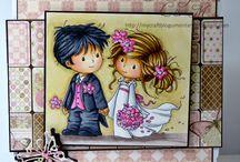 Идеи свадебных приглашений и поздравлений.
