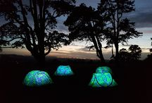Night Glow Tents / The new night glow tents for festivals