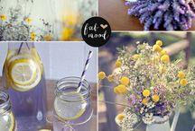 Lavender & Yellow Wedding