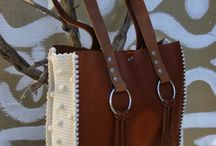 Crochet/Knit leather bags