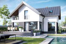 HomeKONCEPT 9 | Projekt domu / HomeKONCEPT-09 to propozycja nowoczesnego, niewielkiego domu o niezwykle komfortowym układzie pomieszczeń. Jego klasyczna forma została uwspółcześniona poprzez zastosowanie dużych przeszkleń oraz wyrazistych materiałów elewacyjnych.