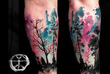 Sleeve forest tattoo