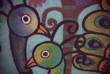 peacock  art  -  tavuskuşu / .