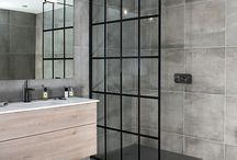 Black Framed Shower Doors