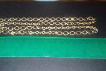 9ct Gold Victorian 32 inch chain, hallmarked, 54.3g