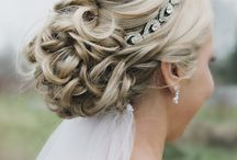 Wedding veil hair