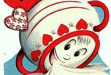 Vintage Kitcshy Cards