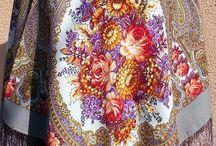 Chusta wełna 100% ,Wool shawl 100% / Chusty z Beskid Art Deco wełna i jedwab