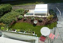 Vorgarten Gestaltung / Vorgartengestaltung mit Fahrradbox