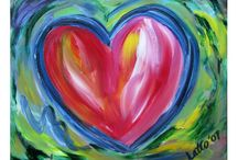 Hearts Art Gallery of Painting and Drawings Gifts / Featuring a gallery devoted to inspirational colorful heart images including paintings, drawings, and photographs.  Great ideas for hearts themed inspired gifts and merchandise art is featured on a variety of items like jewelry, shirts, cards, mugs, apparel, and more!