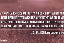 J.D. Salinger Quotes / J.D. SALINGER'S THOUGHTS ON LIFE, WOMEN AND WRITING http://www.quotes2love.com/j-d-salingers-most-memorable-quotes/