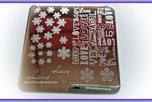 BornPrettySore - Placa Y023 Flower Love Letter / Colaboración,Nail Art,Manicura