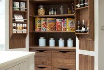 Stonehouse Storage Ideas / Creative storage ideas, kitchen storage, kitchen pantry, kitchen spice racks, cutlery inserts, solid walnut, Bespoke kitchen storage,