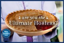 """The Ultimate Hostess"" Pinterest Contest brought to you by Mrs. Smith's® Pies / Follow www.Pinterest.com/mrssmithsand create a board that is filled with ideas you would use to host the perfect gathering with Family and friends. Your board must include at least one pin or re-pin of a MRS. SMITH'S® Pie and the hashtag #MrsSmithsUltimateHostess.  At the end of February we will select our two favorite boards and the winners will each receive a pie coupon for every month of the year.   For official Rules Click Here: http://on.fb.me/1yOeOTy / by MRS. SMITH'S® Pies"