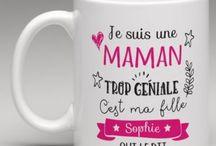 Mugs et jolies tasses personnalisés / Des idées de cadeaux aussi jolis qu'utile. Retrouvez nos mugs personnalisés à offrir ou à s'offrir. www.lemondedebibou.com
