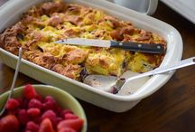 RECIPES - Brunch Ideas / Easy brunch recipe ideas including make-ahead muffins, strata and donuts