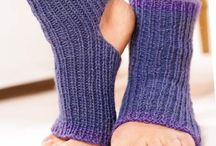 Knitting foot warmers