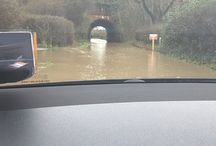 Flooding in Winchfield / Flooding on 3 January 2016 in Winchfield, Hartley Wintney, Hook and Crookham Village illustrating why building a new town of 5,000 houses in Winchfield is a bad idea.