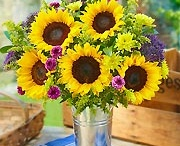 Sunflower Wedding / Yellow & Purple