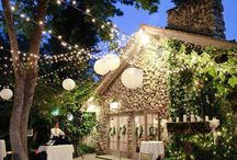 Garden inspiration / Making your outside entertaining area look attractive with lots of sparkling fairy lights