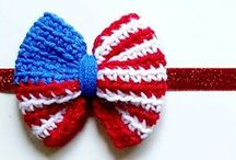 Crochet Baby 4th of July / Crochet 4th of July. 4th of July Dress. 4th of July Hat. 4th of July Beanie. 4th of July Shoes. 4th of July Hair Accessories. 4th of July Headband. 4th of July.