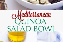 Quinoa/kuskus/bulgure/salads