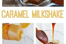 Caramel food and drinks
