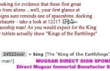 Mugsar Immortal Benefactor / Imagine in 1000 years someone looking at a Mugsar Sumerian sign sponsored by you.