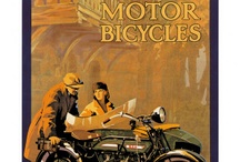 vintage moto+cars+bicycles ads