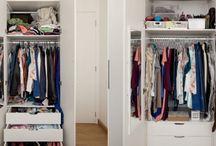 organização de armários