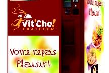 Les distributeurs Automatiques / Présentation des deux automates de l'entreprise Vit'Cho! TRAITEUR ==> Vit'Cho! TRAITEUR ==> Vit'Ice! DELICES