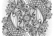 Adult Coloring Pages / Free and printable adult coloring pages by Karma Gifts