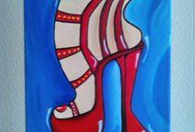 Schilderijen, ze zijn te koop op www.irma-art.nl of op www.cp-accessoires.nl