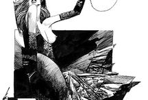 the wild magnificent imagery of Sergio Toppi / by Glenn Dilon