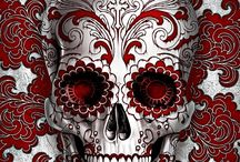 Skulls / Love gothic things, skulls are part of it, sugar skulls, Halloween, catacombs etc :)